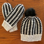 Slip Stitch Hat & Mitts